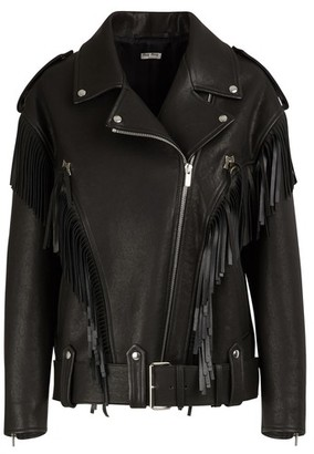Miu Miu Oversize leather jacket