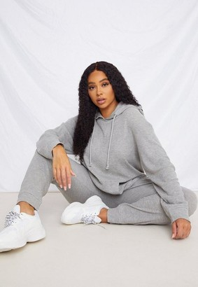 Missguided Plus Size Gray Waffle Knit Loungewear Set