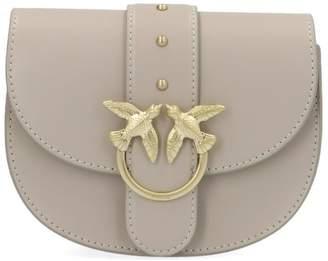 Pinko Simply Baby Round Love Bird Detail Plaque Shoulder Bag