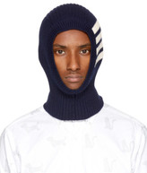 Thom Browne Navy Rib Four Bar Balaclava