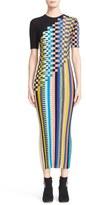 Missoni Check Knit Wool Blend Midi Dress