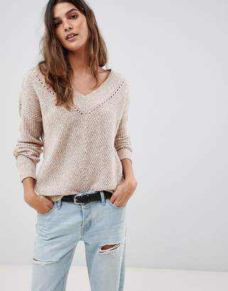 Abercrombie & Fitch v neck cropped knit-Gray