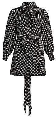 Marc Jacobs Women's The Mini Polka Dot Silk Shirtdress