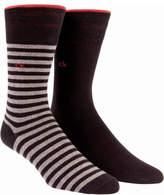 Calvin Klein 2 Pk Broken Stripe Sock