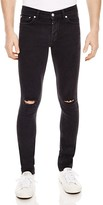 Sandro Iggy Destroyed Slim Fit Jeans in Black