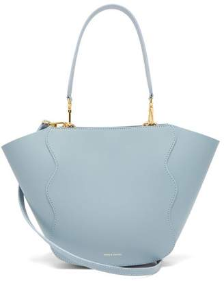 Mansur Gavriel Mini Ocean Leather Tote Bag - Womens - Blue