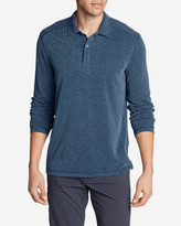 Eddie Bauer Men's Contour Long-Sleeve Polo Shirt