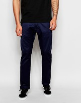 Edwin Chinos Ed-55 Relaxed Tapered Fit Unwashed Compact Twill - Blue
