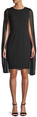 Calvin Klein Cape Sheath Dress