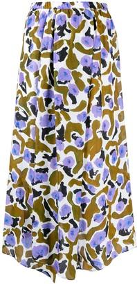 Christian Wijnants Sona Brown Lotus skirt