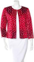 Oscar de la Renta Embroidered Silk Jacket