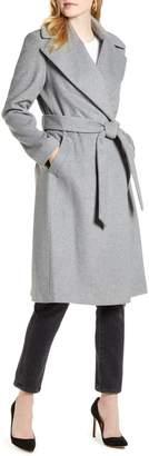 Rachel Parcell Wool Blend Wrap Coat