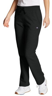 Champion Women's Powerblend Fleece Open Bottom Pants