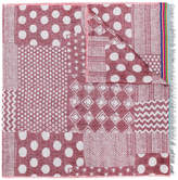 Paul Smith mixed-jacquard pattern scarf