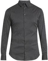 Giorgio Armani Micro-diamond Print Cotton-jersey Shirt