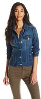 Liverpool Jeans Company Women's Classic Button Front Denim Stretch Jacket