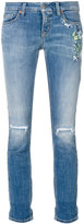 Cambio ripped knee cropped jeans - women - Cotton/Spandex/Elastane - 38