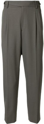 Solid Homme Cropped Virgin Wool Trousers
