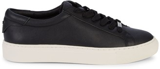 J/Slides Lace-Up Leather Sneakers