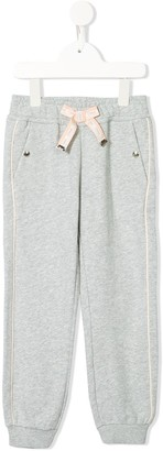 Chloé Kids Logo Bow Piped Track Pants