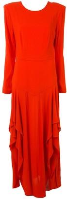 Stella McCartney Slit-Detail Ruffled Dress