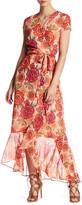 Taylor Print Chiffon Faux Wrap Maxi Dress
