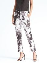 Banana Republic Ryan-Fit Print Sateen Pant