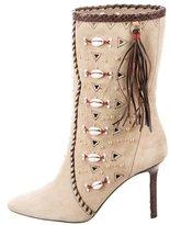 Tamara Mellon Suede Bohemia Ankle Boots