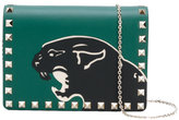 Valentino Garavani Valentino Rockstud panther crossbody bag - women - Calf Leather/metal - One Size