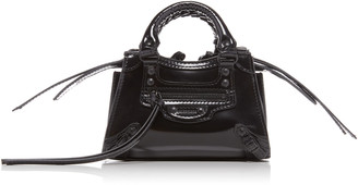 Balenciaga Neo Classic Nano Patent Leather Bag
