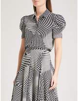 Co Polka dot-print silk shirt