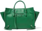 Balenciaga Papier A6 Textured-leather Tote - Green