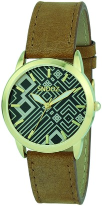 Snooz Women's Analogue Quartz Watch with Leather Strap Spa1039-83