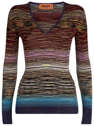 Missoni Striped Long-Sleeved Top