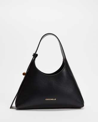 Coccinelle Women's Black Leather bags - Fedra Hobo Bag - Size One Size at The Iconic