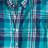 J.Crew Slim lightweight shirt in havana blue plaid
