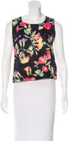 Chanel Floral Print Sleeveless Top