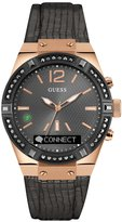GUESS CONNECT Smartwatch in Gunmetal Leather 41mm