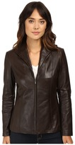 Cole Haan Lamb Leather Zip Front Jacket
