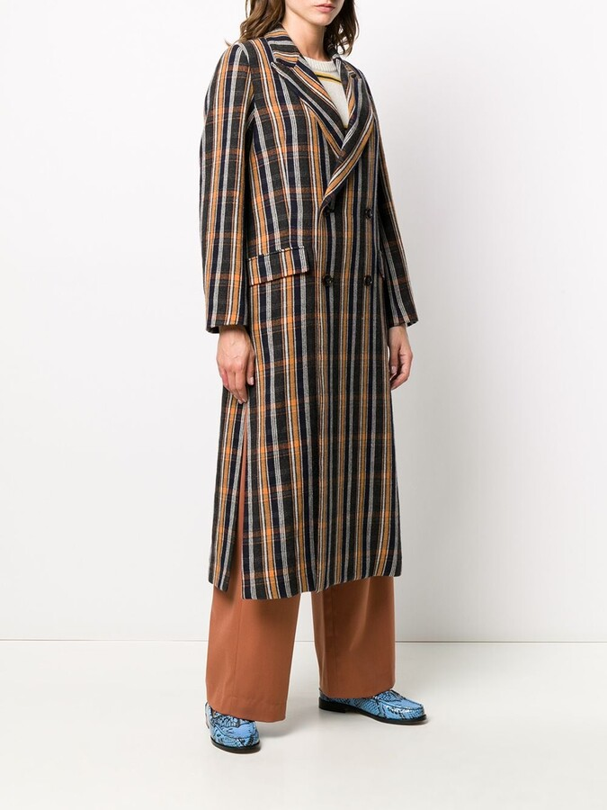 Thumbnail for your product : Zucca Plaid Trench Coat