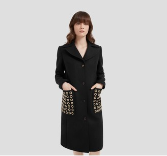 Mulberry Claire Coat Black Wool Felt
