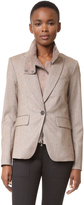 Veronica Beard Cutaway Jacket with Elbow Patches