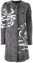 Liska single breasted fur coat
