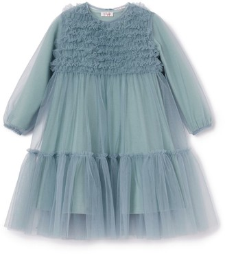 Il Gufo Frill-Detail Tulle Dress (3-12 Years)