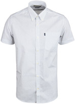 Barbour Theo White Printed Tailored Fit Short Sleeve Shirt