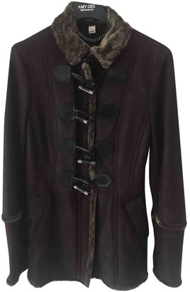 Burberry Brown Shearling Coat for Women