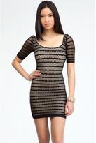 Bebe Mesh Stripe Dress