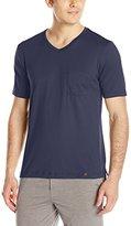 Hanro Men's Night and Day Short Sleeve V-Neck Shirt
