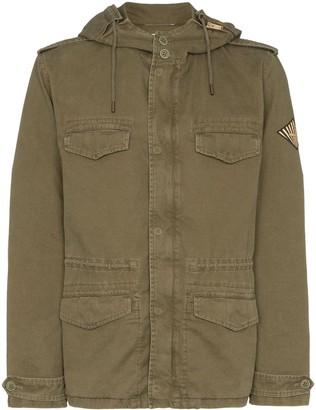 Saint Laurent Military-Style Parka Coat