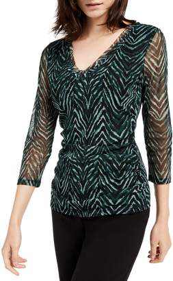 INC International Concepts Double-Layer V-Neck Top